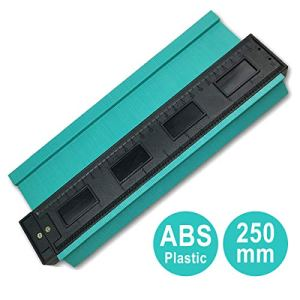 ZCZUOX Jauge de Contour Plastique, 250MM Copieur de Profil pour Jauge de Profil pour conduits en Plastique, Tuyaux de Bobinage, Cadres Circulaires (250mm)