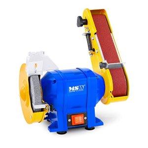 MSW Touret à meuler mixte GRIN250D (Meule et Bande abrasives, 250 Watts, 2950 T/min et 5 m/s pour 250 W, Différentes granulations)