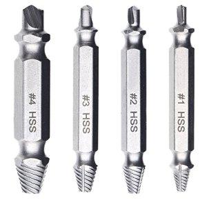 Boonor 4 pièces Vis en Outils de perçage HSS Lot de tournevis vis hermosisimo Bits Porte-outils 4341 #, pour enlever beschädigter Vis