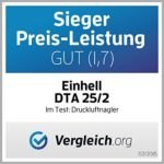 Einhell DTA 25/2 Agrafeuse cloueuse Pression 6 bar Largeur 10 – 50 mm Noir