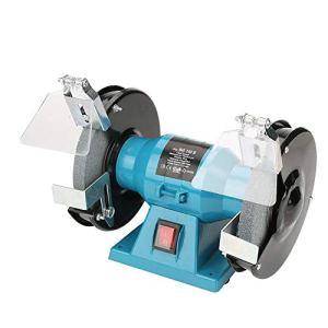 Meuleuse de banc, meuleuse à disque 150 mm, meuleuse électrique de bureau pour maison, 250 W, prise UE 220 V, bleu