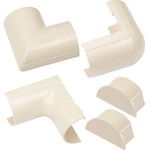Raccords à clipser pour D-Line goulotte moulure Maxi | Joindre plusieurs goulottes de 50x25mm | Multipack de 5 pièces raccords de goulotte électrique | Crème