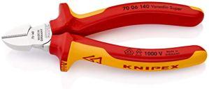 KNIPEX 70 06 140 Pince coupante de côté chromée isolées par gaines bi-matière, certifiées VDE 140 mm