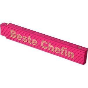 Te Trend Stock Rose 2m Echelle Mètre Tag gravé au laser Inscription pères maman Tag Mama anniversaire, rose