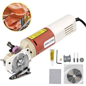 VEVOR Coupeur Rotatoire de Tissu de 65mm, Machine Tissu Cutter, Ciseaux Electriques Découpeuse de Tissu, électrique portable Chiffon 220V 150W, pour la soie