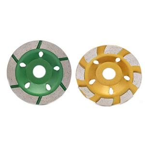 Dalin Lot de 2 disques de meulage diamant 120 mm en forme de bol de béton en granit pierre céramique