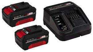 Einhell 2 x 3,0 Ah Starter Kit Power X-Change (18 V, 3,0 Ah, Lithium-Ion, 1 chargeur + 2 batterie 3,0 Ah, Temps de charge : 60 min, Témoin de niveau de charge)