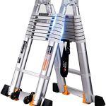 FANLIU Marchepied échelle télescopique en alliage d'aluminium -Thicken échelles multi-fonctions d'ingénierie de levage Echelle Ladder – Capacité de charge 150 kg – 5 Tailles ** (Taille: échelle Chevro