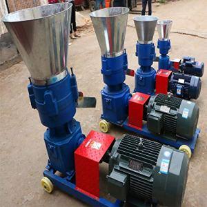 txmachine Ponceuses à bande et à disque presse à granulés 250-300kg/h Machine à granulés pelletpresse 7.5KW bois moulin à granulés Machine (Tension personnalisée)