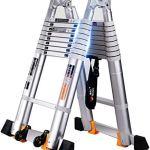 Unknow Échelle télescopique de Tabouret – Échelles d'épaississement Échelle multifonctionnelle de Levage d'échelle d'alliage d'aluminium – Capacité de Charge 150kg – 5 Tailles ** (Taille: Échelle d