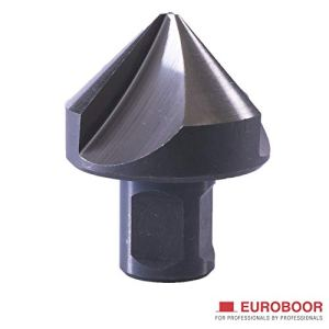 Euroboor SCE.40 Fraise conique HSS 19,05 mm 90 degrés 3 tranchants Diamètre 10-40 mm