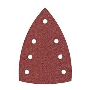 Hitachi-753424-Papier abrasif pour Ponceuses delta vibrantes 100 x 150 mm grain 100 (10 Vous) avec velcros