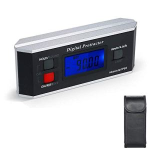 Inclinomètre à rapporteur numérique, jauge de détection d'angle de niveau magnétique de haute précision à 360 degrés, niveau d'angle étanche portable avec rétro-éclairage pour la construction, la men