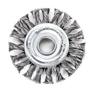 Lessmann 473211WZ Brosse ronde à tête bombée droite et droite 125 x 14 mm