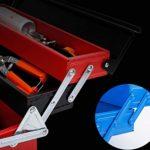 LZL À Trois Niveaux Boîtes à Outils for l'entretien et l'installation Ensembles d'outils Coffres à Outils Portable ménagers Multifonctions Stockage Boîte à Outils (Color : Blue)