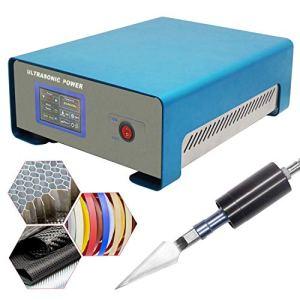 Mxmoonant 500W Coupeur ultrasonique 19-26KHZ Machine de couteau de coupe en plastique à ultrasons industrielle de laboratoire pour Kevlar ABS PE PVC PC PP acrylique avec couteau en alliage de titane