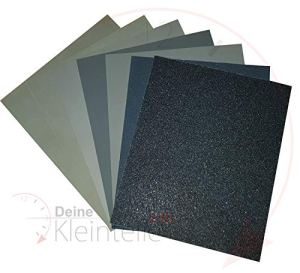 P180 Lot de 10 feuilles de papier abrasif humide