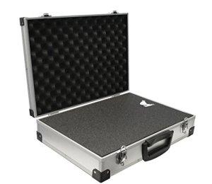 Peak Tech P 7270 – Mallette Universelle pour Instruments de Mesure, Mallette Robuste en Aluminium, Compartiment à Outils, Rembourrage en Mousse, Verrouillable, Anti-Poussière, XXL – 500 x 350 x 120 mm