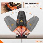 TACKLIFE 800W Scie Sauteuse, ±45 ° Angle d'inclinaison, 6 Vitesses Réglables 0-3100 SPM,4 Modes de Coupe, Laser, LED, 20mm Hauteur de Course, 6 Lames, Boîte de Rangement-TJS02A
