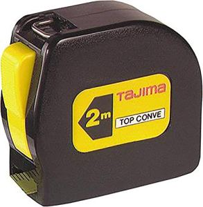 Tajima TOP50MY Top Conve Mètre ruban 5 m, Noir/jaune