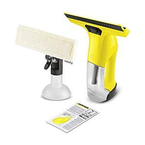 Kärcher 4054278469546 WV 6 Plus Aspirateur de fenêtre avec accessoires 100 min autonomie de la batterie, nettoyeur pour fenêtres, carrelage, douche, vitrines.