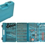 Makita DLX2145TJ Makpac Perceuse visseuse à percussion DHP458Z + visseuse à chocs DTD152Z + 2 batteries 18V 5Ah Li-ion + coffret & P-44046 Coffret d'Embouts 216 Pièces