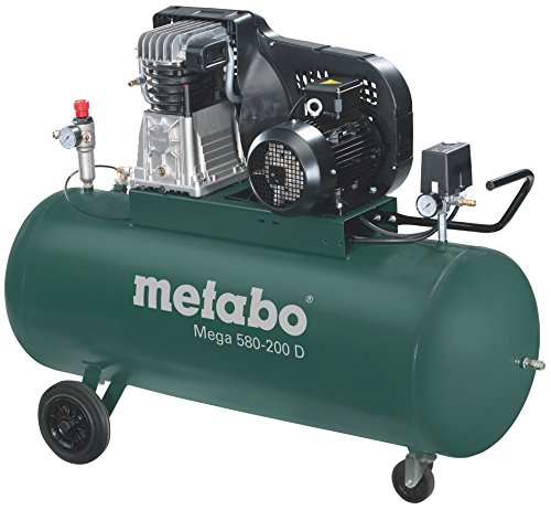 Metabo Compresseur Mega 580–200D, 3KW, 601588000