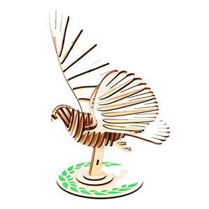 Yuhualiyi123 3D Colombe De Paix Puzzles, Bricolage Creative Assembly Jouets, Modèles De Papier, L'éducation Parent-Enfant Interaction Jouets for Les Enfants, 46 Pièces (Color : Peace Dove)