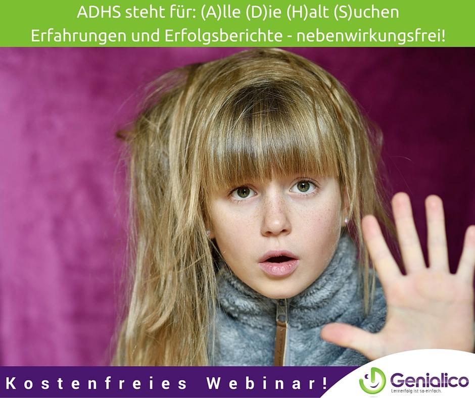 Kostenfreies Webinar, ADHS, alle die halt suchen