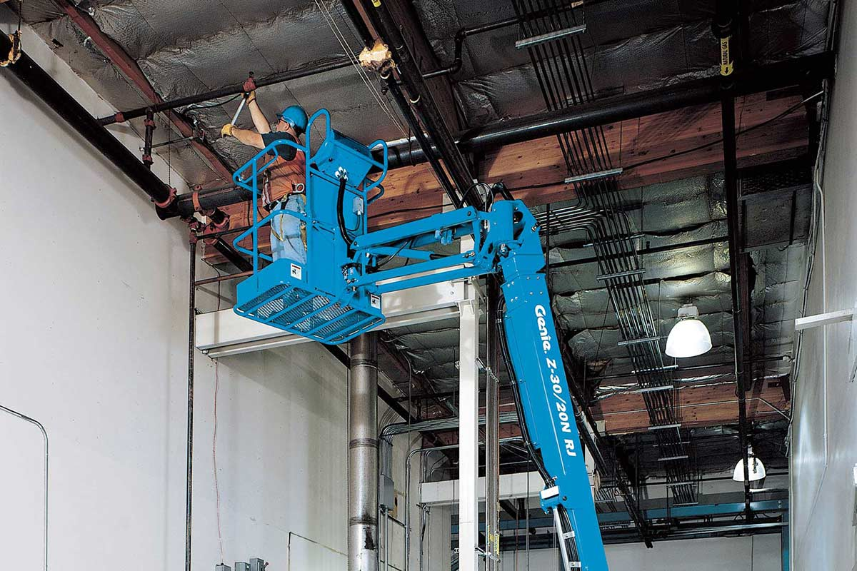 hight resolution of genie z 30 20n rj articulating boom lift