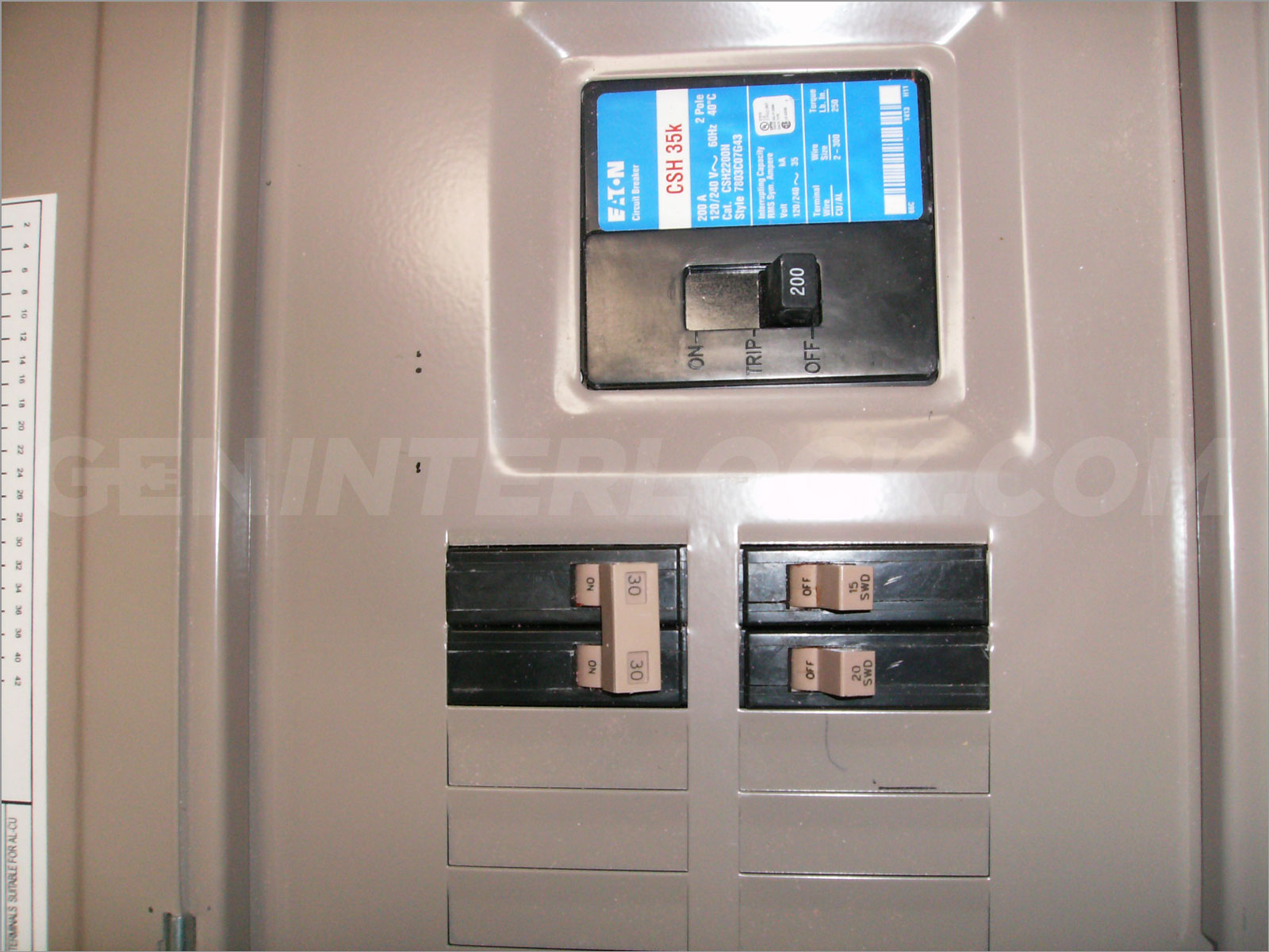 100 Amp Load Center Wiring Diagram Generator Interlock Kit Eaton Cutler Hammer 150 And 200