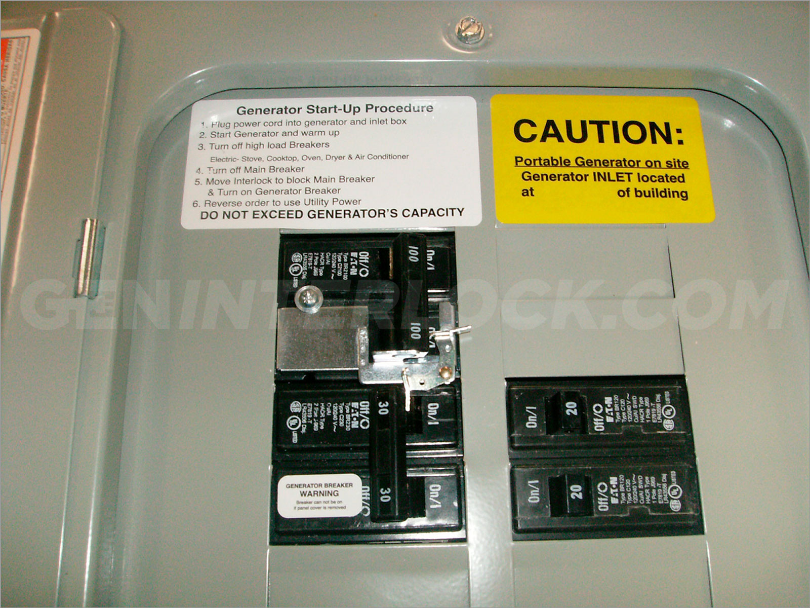 hight resolution of oem model generator interlock kit eaton cutler hammer 100 amp panels br series