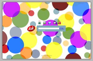 Ask.com Homepage - themed using the Polka Dots theme