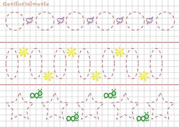 Pregrafismo e prescrittura: Come disegnare figure geometriche