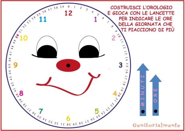 Imparare a leggere l orologio schede da stampare for Come leggere la costruzione di progetti