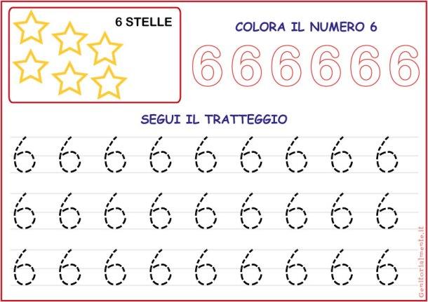 Schede didattiche pregrafismo con i numeri
