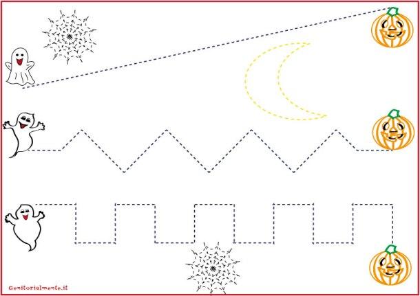 Schede pregrafismo percorsi: linee rette | genitorialmente
