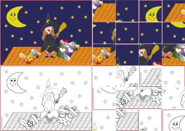 Schede didattiche per i piccoli: puzzle della befana | Genitorialmente