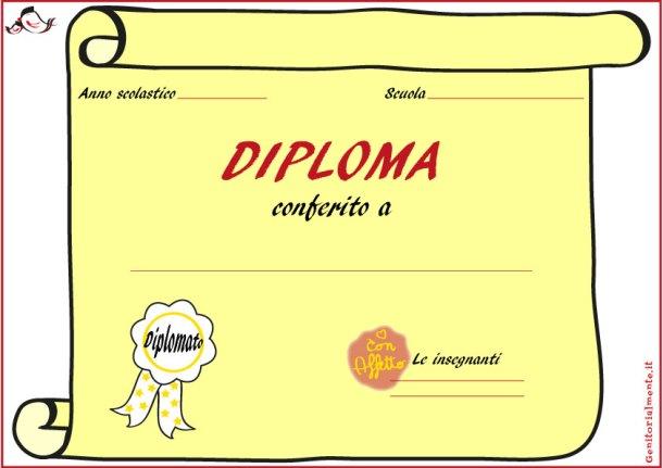 Diploma e coccarde di fine anno scolastico | Genitorialmente