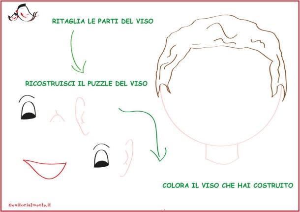 Come insegnare le parti del viso ai bambini – schede da scaricare| Genitorialmente