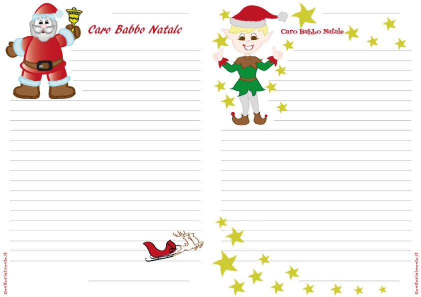 Le Lettere Di Babbo Natale.Lettera Di Babbo Natale Da Stampare E Scrivere Genitorialmente