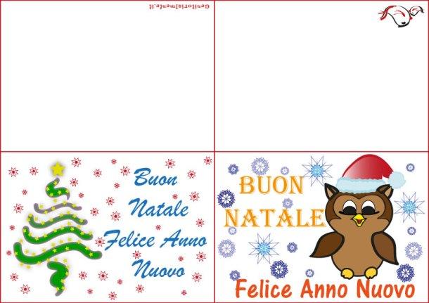 Biglietti di Natale da stampare e decorare | Genitorialmente