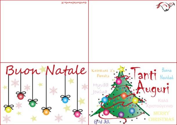 Biglietti di Natale da stampare e decorare   Genitorialmente