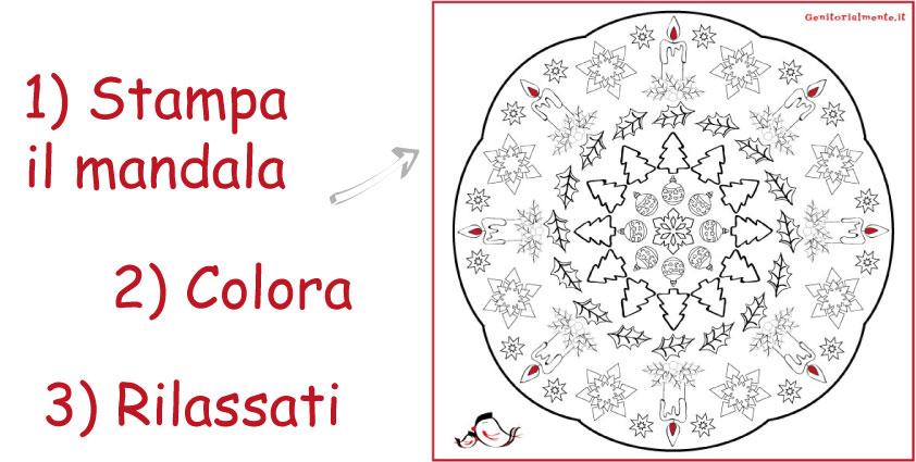 Mandala Di Natale Da Colorare Per Bambini E Adulti