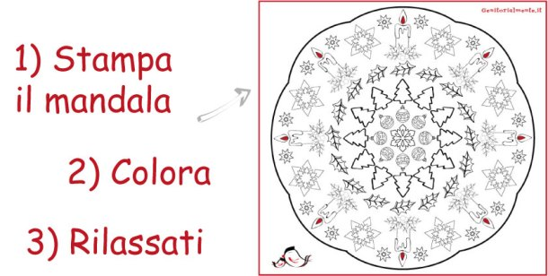 Mandala di Natale da colorare per bambini e adulti | Genitorialmente