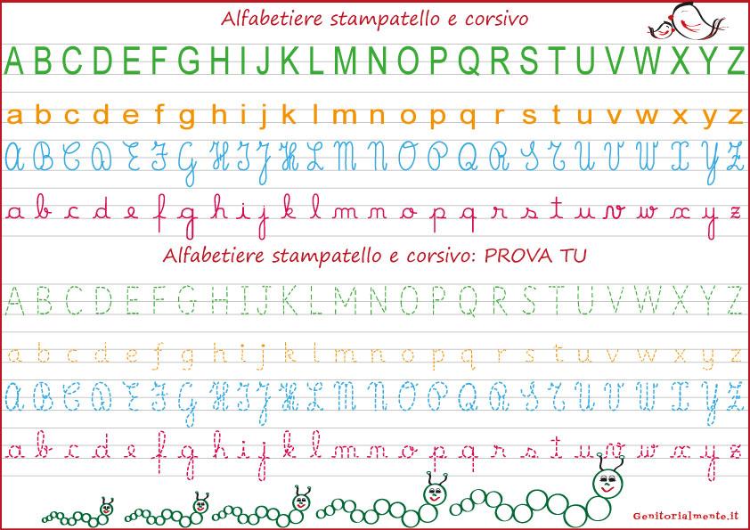 Lettere Stampatello Maiuscolo Schede Didattiche Genitorialmente