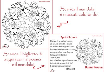 Mandala e poesia di Pasqua da stampare   Genitorialmente