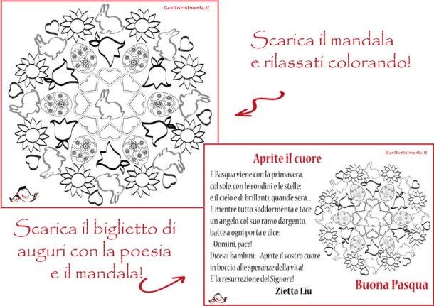 Mandala e poesia di Pasqua da stampare | Genitorialmente