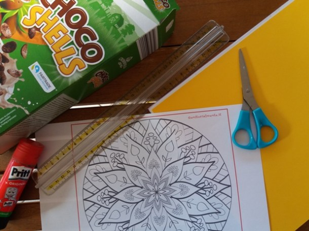 Come fare una cornice con mandala - idea regalo | Genitorialmente