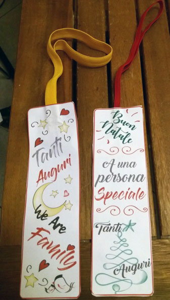 Segnalibro natalizio con elastico - Idea regalo fai da te | Genitorialmente